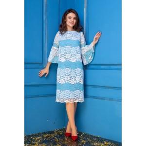 Anastasia 268 Платье (белый/голубой)