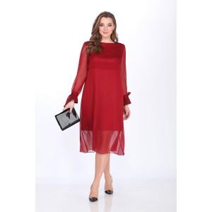 ELLETTO 1490 Платье (бордовый)