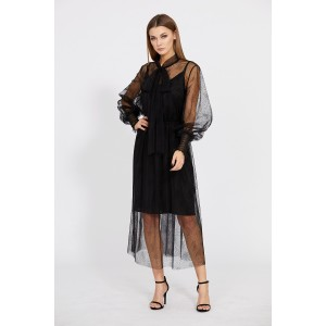 EOLA STYLE 1769 Платье (черный в мелкий горох)