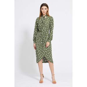 EOLA STYLE 1830 Платье (оливка)