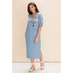 Faufilure С1050 Платье (темно-голубой)