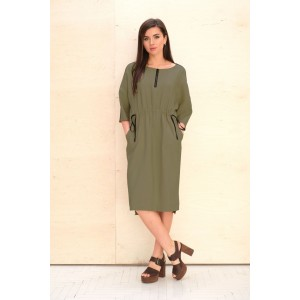 Faufilure С1070 Платье (хаки)