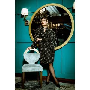 Faufilure С1021 Платье (черный в горохи)