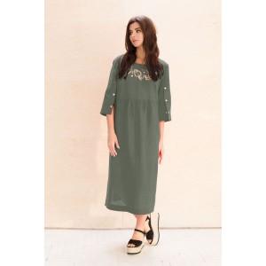 Faufilure С1049 Платье (хаки)