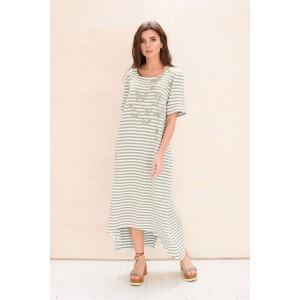 Faufilure С1074 Платье (полоска олива)