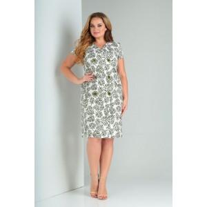 Karina Delux 181А Платье (бело-зеленый)