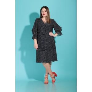 Karina Delux 285 Платье (чёрное в горошок)