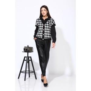 Karina Delux 9936 Костюм брючный (черно-серый )