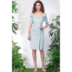 LENATA 11013 Платье (ментоловая полоска)