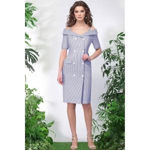 LENATA 11013 Платье (тёмно-синяя полоска)
