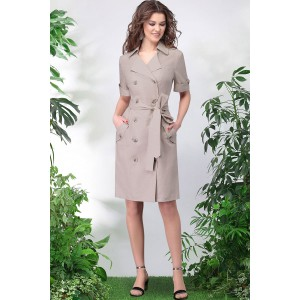 LENATA 11015 Платье (бежевый)