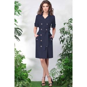 LENATA 11015 Платье (синий)