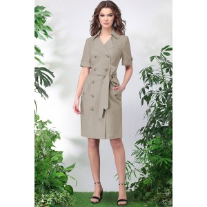 LENATA 11015 Платье (тёмно-бежевый)
