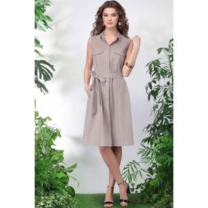 LENATA 11016 Платье (светло-беж)
