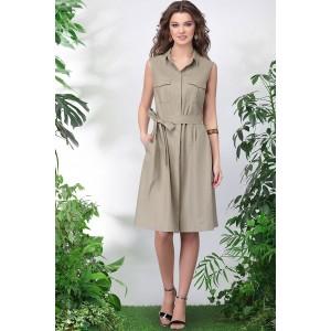 LENATA 11016 Платье (темно-бежевый)
