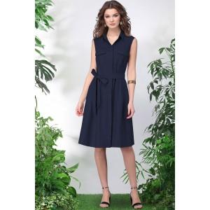 LENATA 11016 Платье (темно-синий)