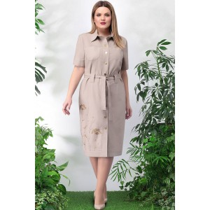 LENATA 11024 Платье (бежевый)
