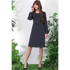 LENATA 11027 Платье (синее в горох)