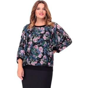 LENATA 11061 Блузка (сиреневые цветы)