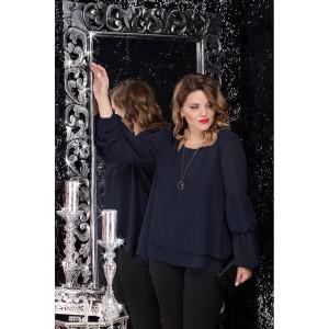 LENATA 11066 Блузка (темно-синий)