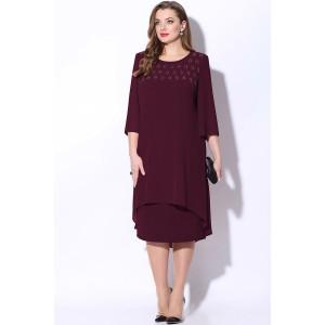 LENATA 11068 Платье (спелая вишня)