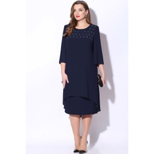 LENATA 11068 Платье (темно-синий)