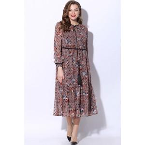 LENATA 11072 Платье (розовый с черным горошком)