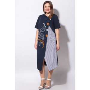 LENATA 11128 Платье (синий)