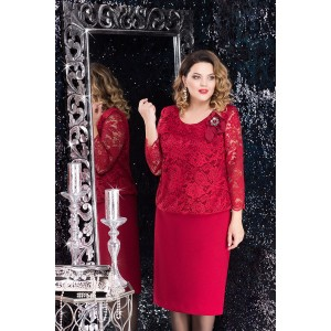 LENATA 11715 Платье (бордо)