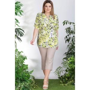 LENATA 11750 Блузка (листья)