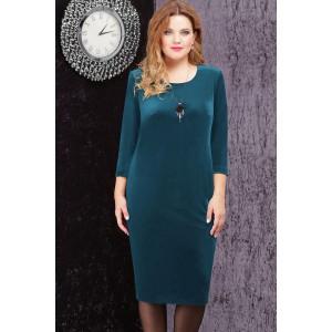 LENATA 11816 Платье (темно-бирюзовый)