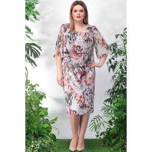 LENATA 11897 Платье (коричневые цветы)