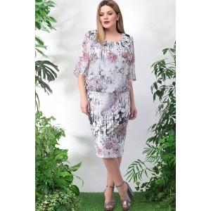 LENATA 11897 Платье (сиреневые цветы)