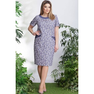 LENATA 11905 Платье (голубой с белым)