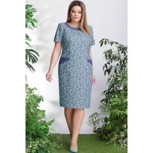 LENATA 11905 Платье (голубой с бирюзовым)