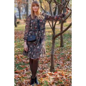 LENATA 12072 Платье (зеленый с черным горошком)
