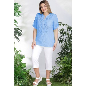 LENATA 12895-1 Блузка (голубой)