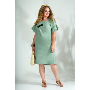 LILIANA 844 Платье (серо-зеленый)