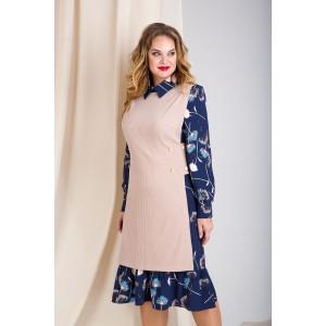 LILIANA 889 Платье с жилетом