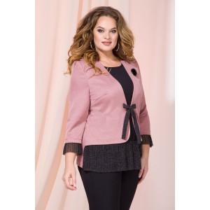 LILIANA 899 Блузка (черный+розовая пудра)
