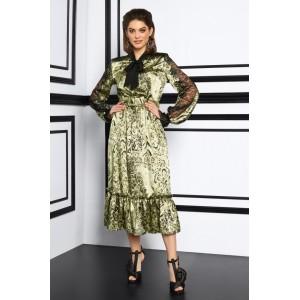 LISSANA 3913 Платье (зеленый леопард)