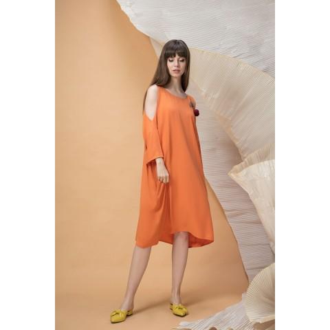 LOKKA 463-О Платье (оранжевое пламя)