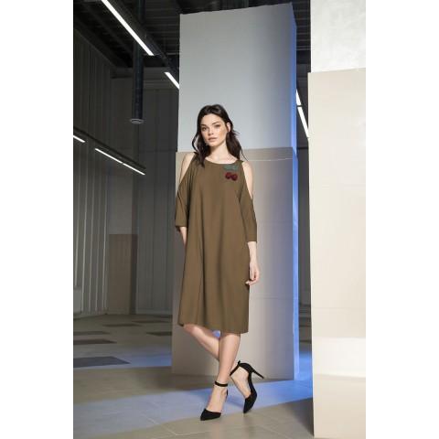 LOKKA 463-Х Платье (настоящий хаки)