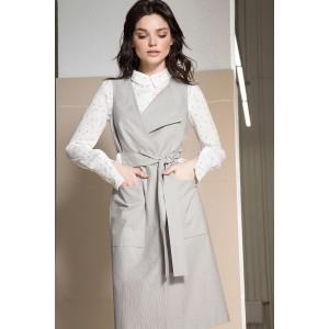 LOKKA 473 Комплект  женский (платье-тренч и блуза)