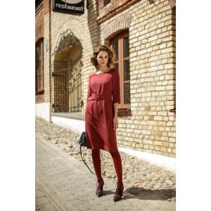 LOKKA 527 Платье (винное бордо)