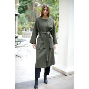 LOKKA 662 Пальто (зеленая хвоя)
