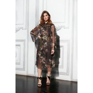 LOKKA 698 Платье (растительнй принт)