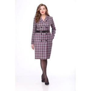MALI 4118 Платье (серо-розовая клетка)