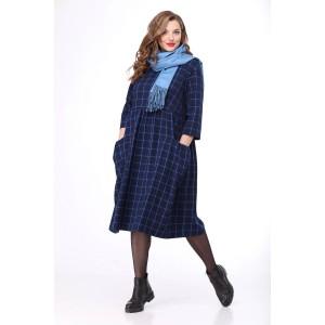 MALI 4140 Платье (синяя клетка)