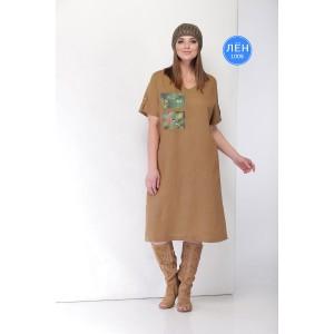 MALI 443 Платье (коричневый цвет)